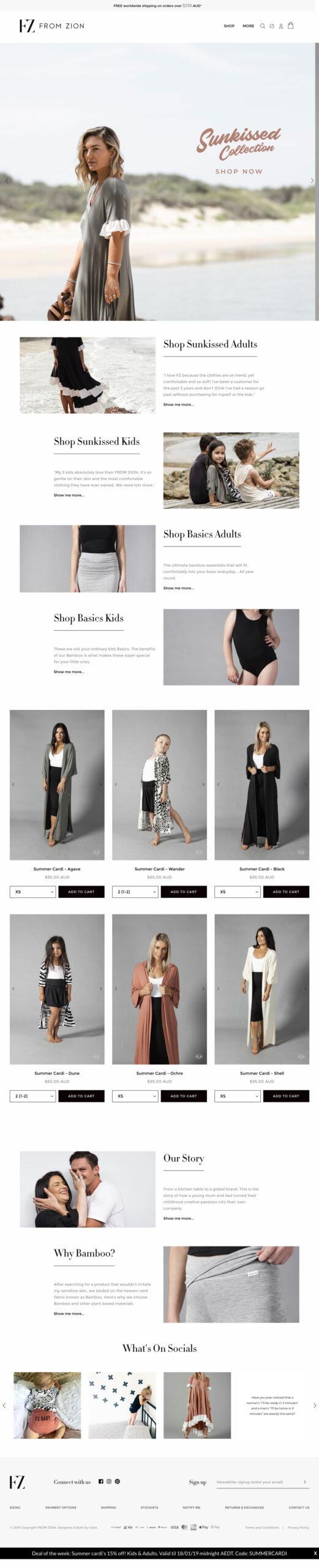 Website Design & Development for From Zion
