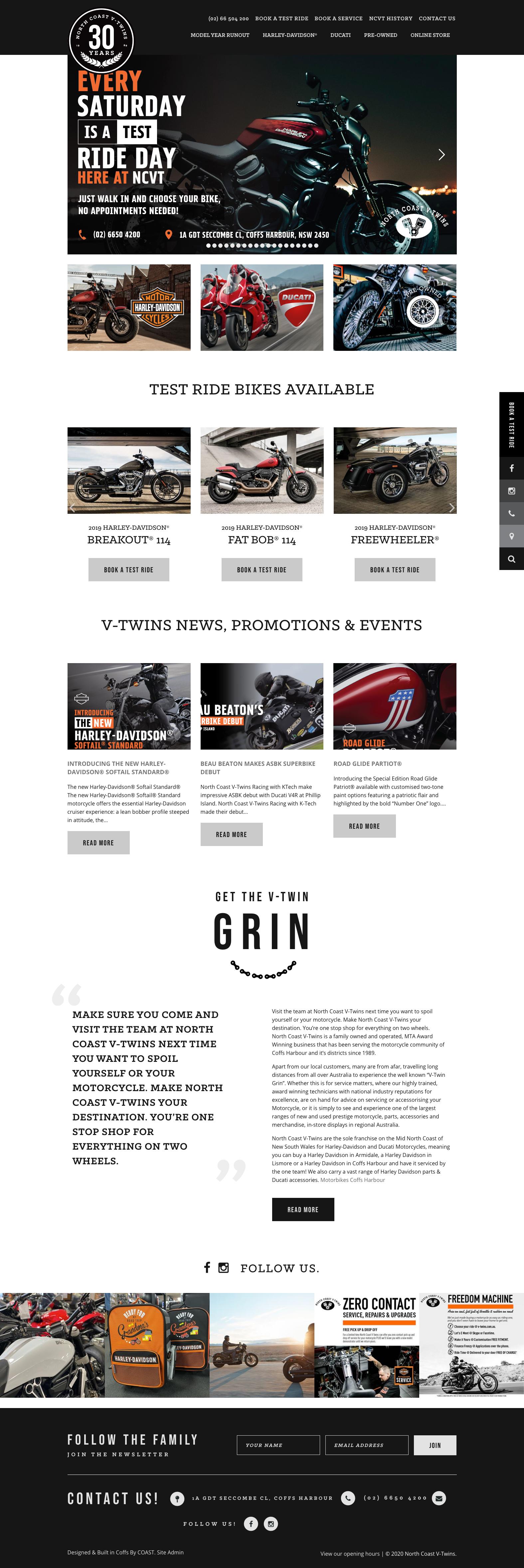 Website Design & Development for North Coast V-Twins