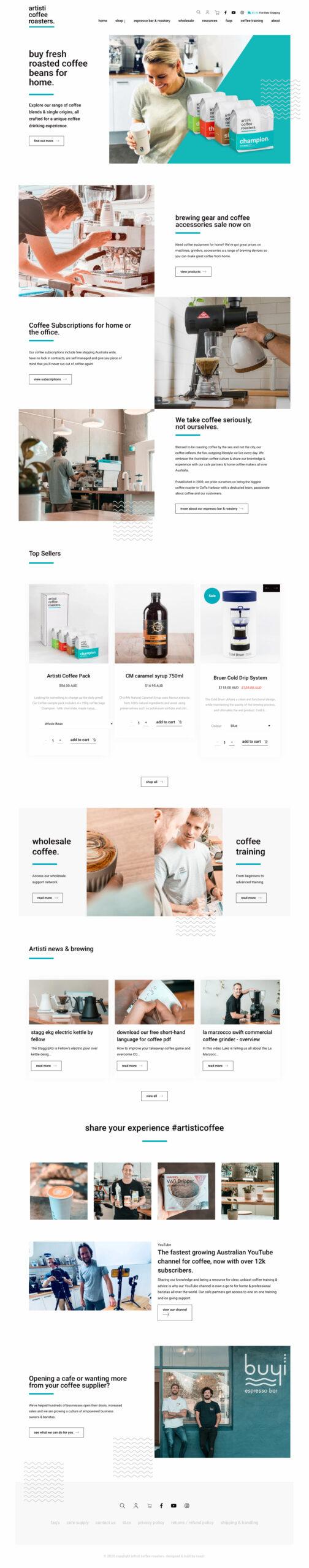 Website Design & Development for Artisti