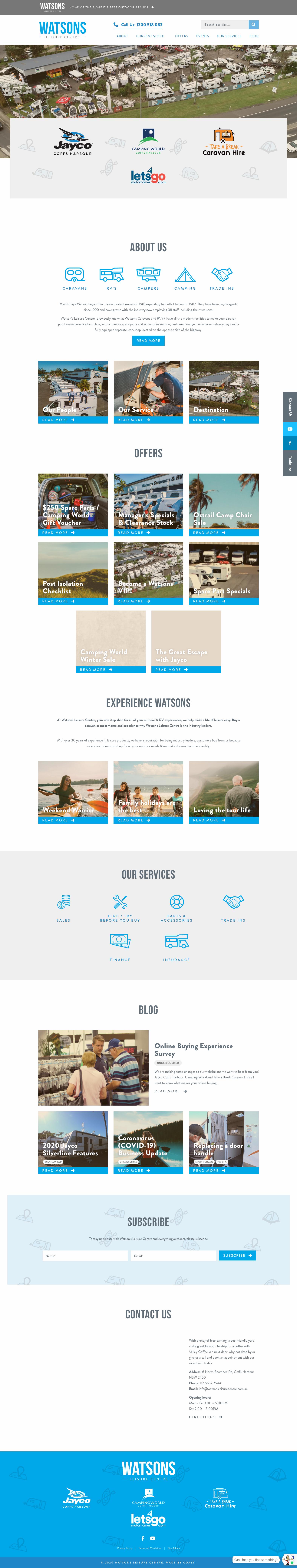 Website Design & Development for Watsons Leisure Centre