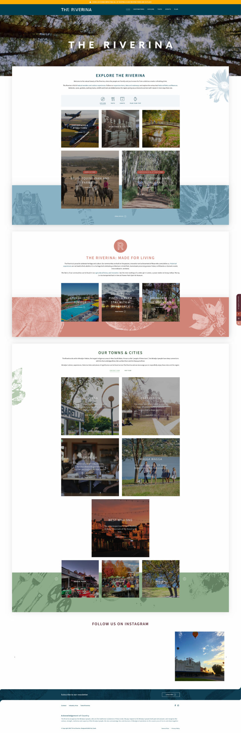 Website Design & Development for The Riverina