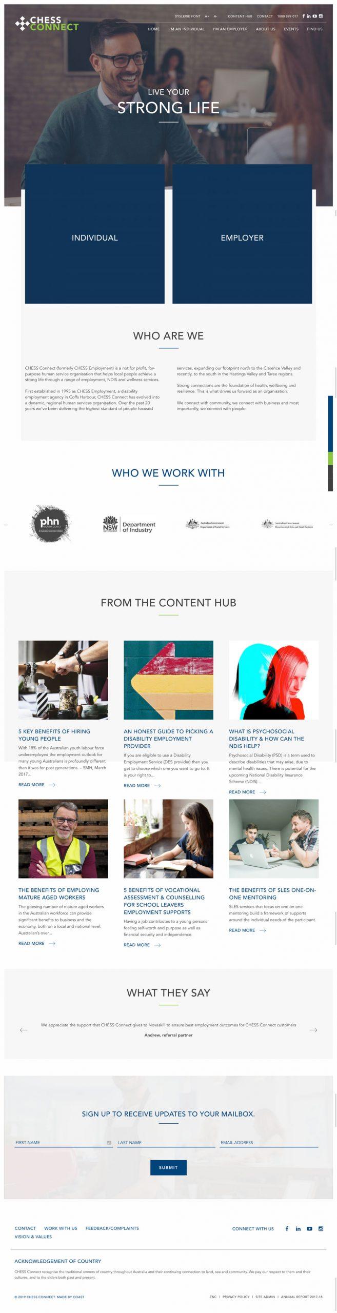 Website Design & Development for Chess Connect