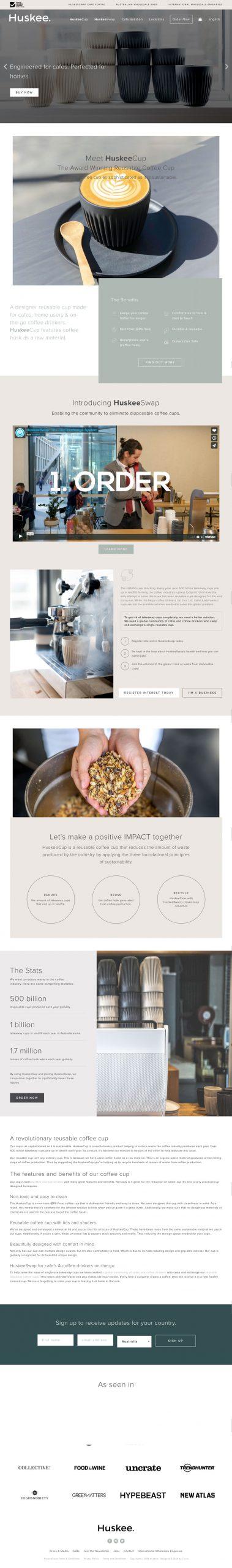 Website Design & Development for Huskee
