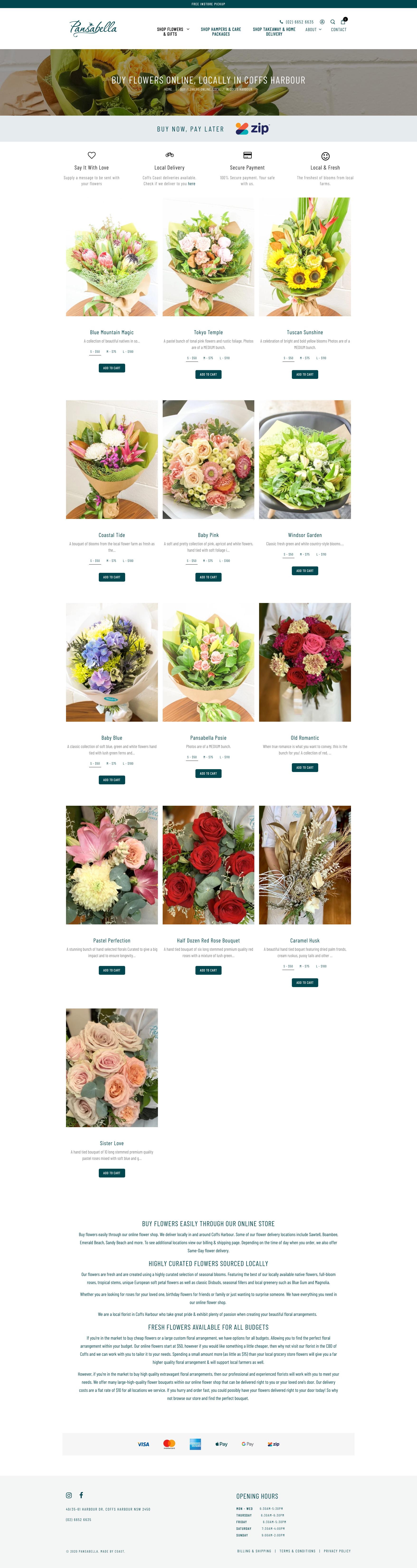 Website Design & Development for Pansabella Providores