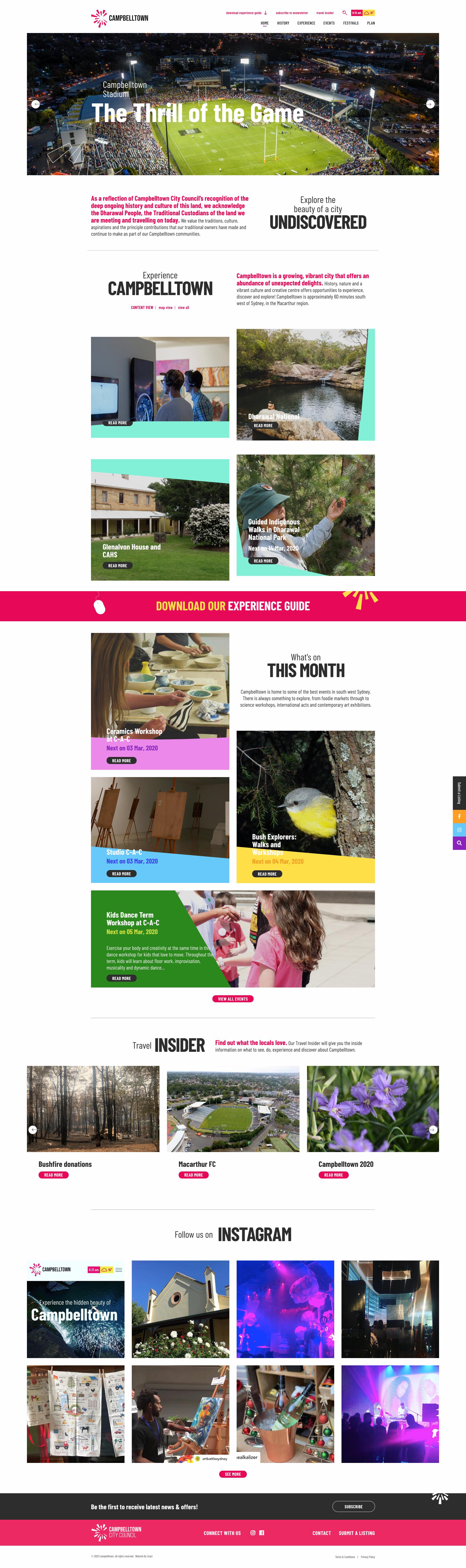 Website Design & Development for Campbelltown