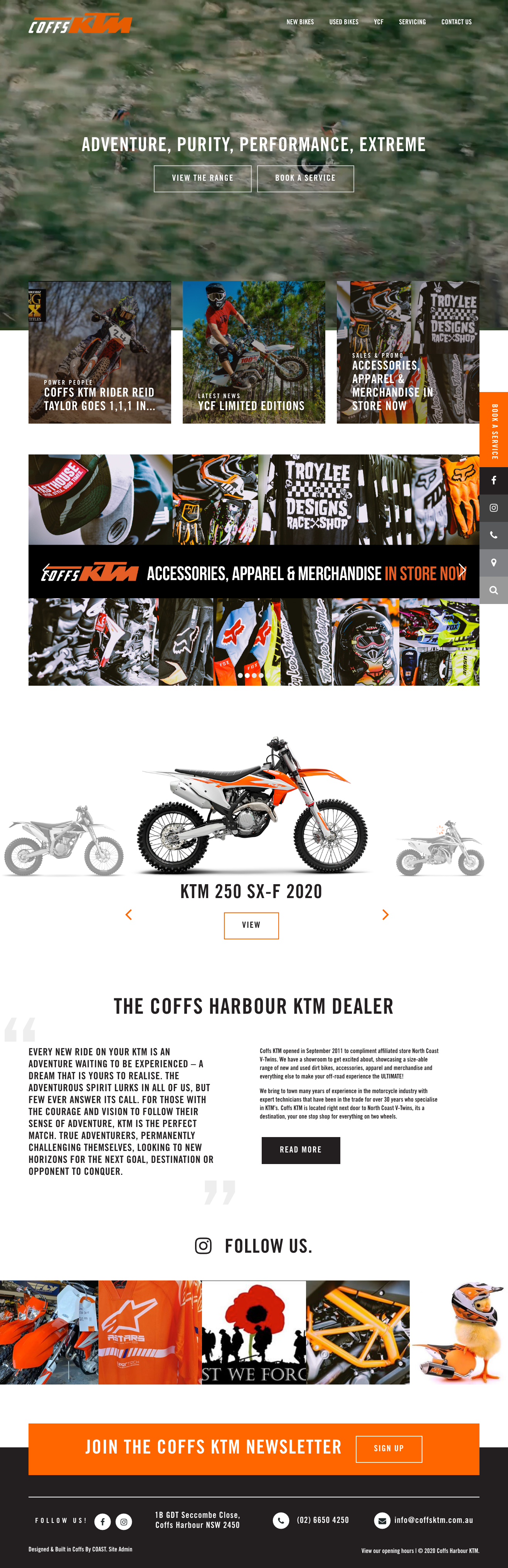 Website Design & Development for Coffs KTM