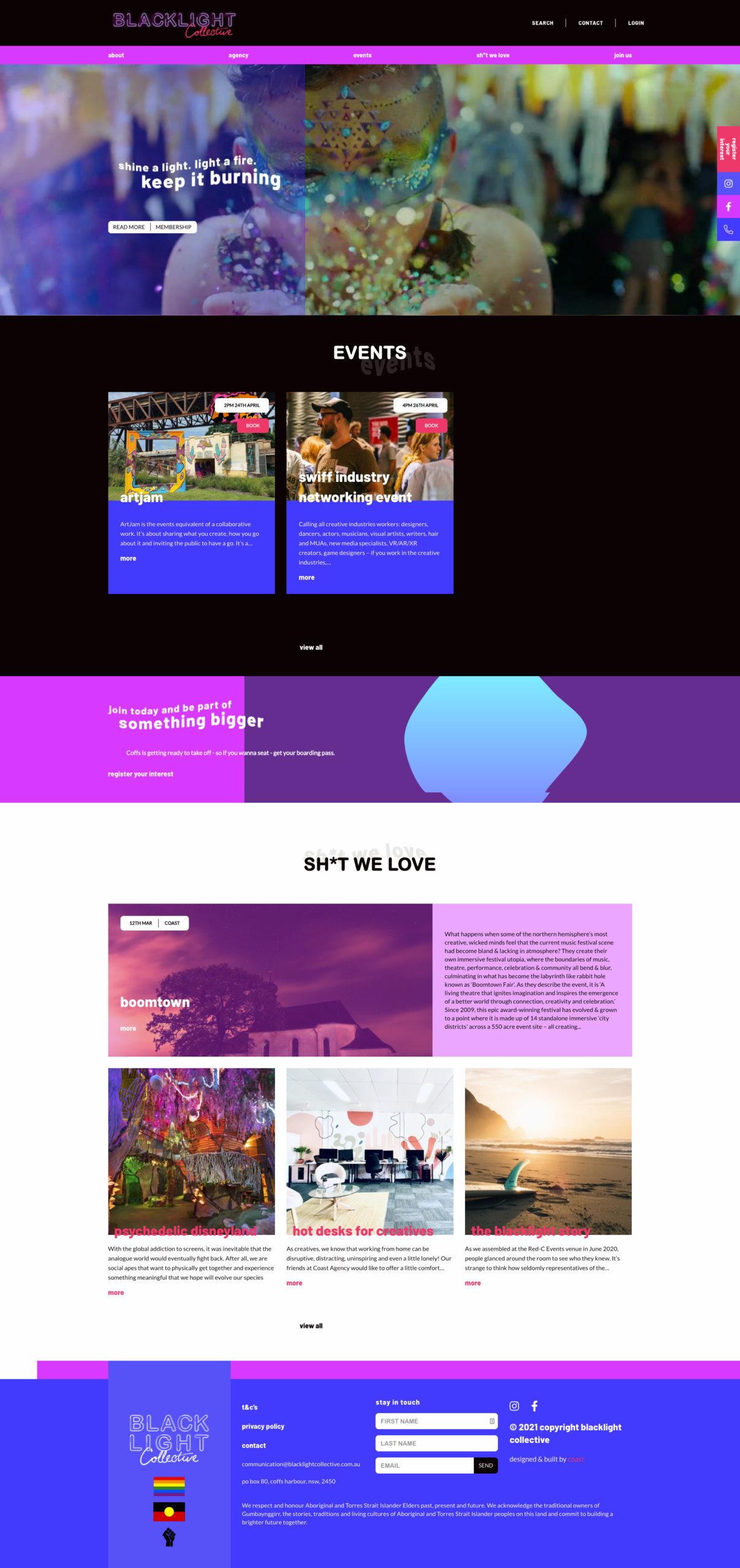 Website Design & Development for BlackLight Collective
