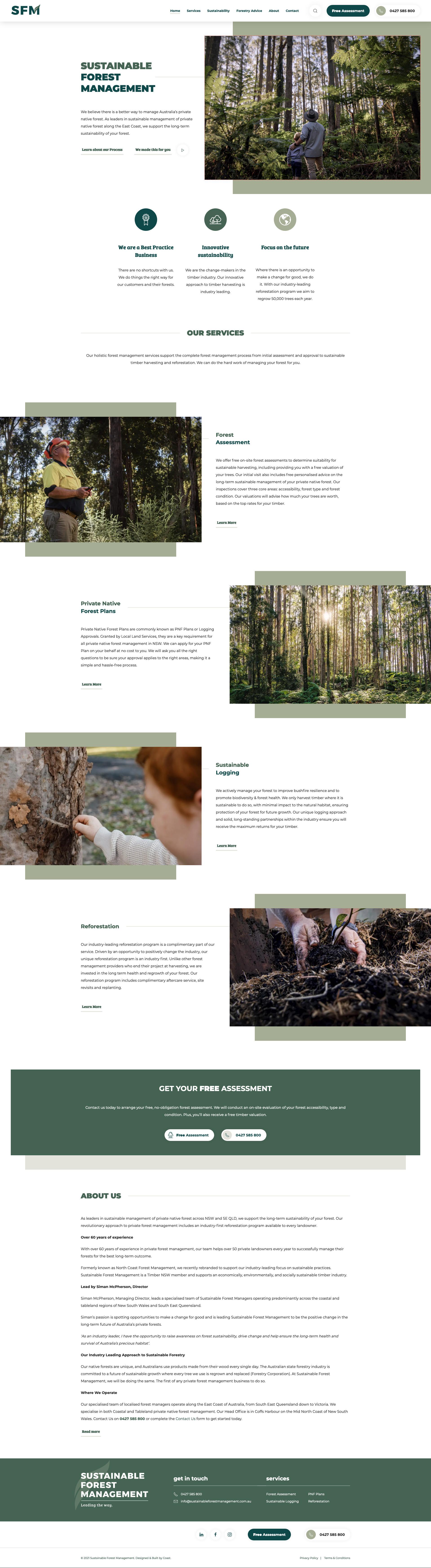Website Design & Development for Sustainable Forest Management